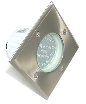 4X LED Bodeneinbauleuchte Gordo LWB-67 eckig 1,2W 230V IP67 WW