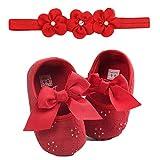 Ballerine per Bambino - Sandali di Principessa - Scarpine Neonato - Scarpe Primi Passi - in PU, Scarpine e Moda Fascia 6-18 Mesi, di UOMOGO