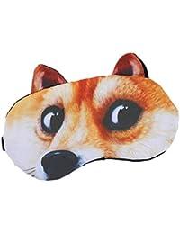 ecmqs máscara para los ojos – 3d calavera Animal dibujo animado gato perro Imprimé Acupuntura oculares antifaz…