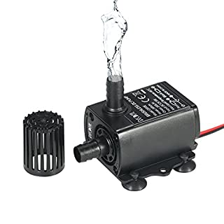 Decdeal Mini Brushless Water Pump DC12V 5W Ultra-quiet Waterproof Submersible Fountain Aquarium Circulating 280L/H Lift 300cm
