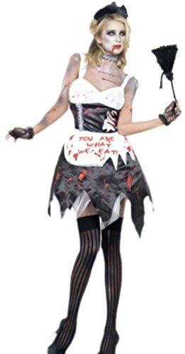 erdbeerloft - Damen Zombie Haushälterin, Kostüm, Halloween, XS, (Halloween Kostüm Putzfrau)