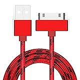 Runrain 1m Intrecciato 30pin Cavo USB di Ricarica e sincronizzazione Dati per iPhone 3G 44S iPad 234iPod