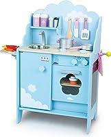 Una grande cucinainteramente in legno per fare come mamma e papà! Progettata per i bambini dai 3 anni in su, questa splendida cucina comprende un frigorifero, un forno, una mensola e un piano di lavoro con lavabo integrato e due piastre di c...