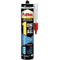 Pattex One for All Universal Kleber / Transparenter, stark haftender Alleskleber ohne Lösungsmittel - vereint Montagekleber und Silikon / 1 x 310g