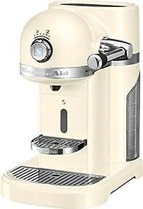 KitchenAid Artisan Nespresso autonome semi-automática Machine Espresso 1.4L Crème de couleur–Cafetière (autonome, Machine à Espresso, 1,4l, Capsule de Café, 1160W, crème de couleur)