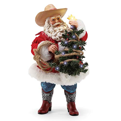 Department 56 Possible Dreams Santas Sports and Leisure Lighted Lasso Figur, PVC, Mehrfarbig, 10.5