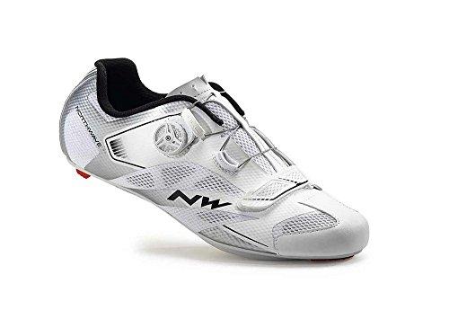 Northwave Sonic 2 Plus Rennrad Fahrrad Schuhe weiß/silber 2016: Größe: 46