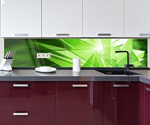 Küchenrückwand Grüne Dynamik Deko Design | 260 x 50cm (B x H) | Plexiglas 3mm