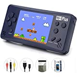 Handheld Game Console for Kids Adults,QINGSHE RS-1 PLUS Portable Classic Game Consoles Built