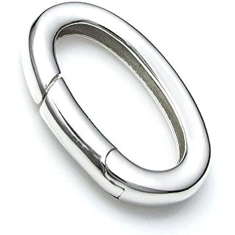 Ovale in Argento Sterling 925collana di perle