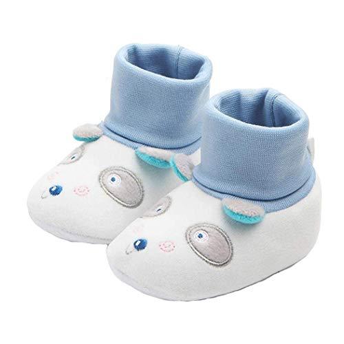 Fuxitoggo Baby Mädchen Jungen Schuhe, Cartoon Neugeborene Slipper Schuhe, geeignet für 0-12 Monate Baby erste Wanderer Stiefel (Farbe : Weiß, Größe : 6-9 Months) 6-zoll-sexy White Schuh