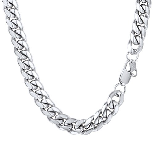 PROSTEEL Chains Necklace Men 10mm 46cm Stainless Steel Heavy Neck Chain