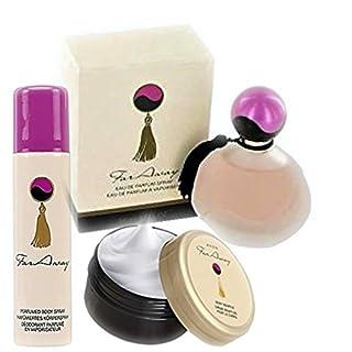 Avon Geschenkset Far Away 3tlg. Eau de Parfum Spray 50ml +Körpermousse 150ml + Körperspray 75ml mit Geschenktasche
