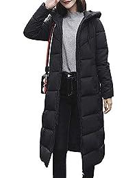 f8f25412b0d2 Minetom Hiver Manteau avec Capuche Femme Doudoune Zippé Manches Longues  Épaissir Grande Taille Blouson Chic Coupe