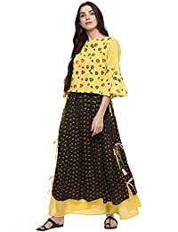 DIMPY WOMEN PRINTED SKIRT WITH STYLISH TOP