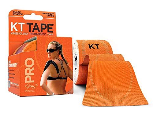 KT Tape PRO 20Streifen aus Synthetik vorgeschnittenen Kinesiologie M Blaze orange - Therapeutische Brace Support-wrap