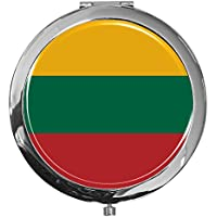 """metALUm - Extragroße Pillendose in runder Form""""Flagge Litauen"""" preisvergleich bei billige-tabletten.eu"""