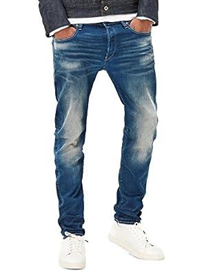 G-Star RAW Men's 3301 Slim-Medium Aged 609 Jeans