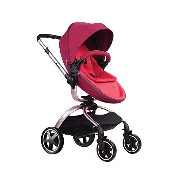 Baby Stroller, Foldable Lightweight EU Baby Doll Stroller, Leather Baby Trend Jogging Stroller for Baby Infant Newborn Baby (Color : Coffee) AEQ ●BABY ALIVE STROLLER TWO-WAY IMPLEMENTATION:enhance baby comfort baby stroller fan, check the baby at any time, family is more assured. ●5+1 SECURITY PROTECTION: for baby stroller five-point seat belt + armrest hatch protection, all-round coverage to protect the baby's key parts, baby pram stroller strictly slip away. ●ENJOY THE SUN WITHOUT SUNBURN: Baby strollers are made of natural natural fabric and bottom PT film. They have excellent rebound and stretchability, and they can maintain a smooth and beautiful appearance after many times of folding. With authoritative certification, it can isolate more than 95% of ultraviolet rays, meet the travel needs of the baby in different time periods, and resist the sun glare. Baby stroller toy protects the baby's delicate skin. 4