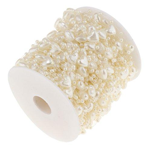 Homyl 30M Perlengirlande Perlenband Perlenvorhang Perlen Dekoration, geeigent für Hochzeit und Wohnkultur