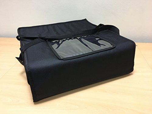 Pizza) Staubbeutel 43,2x 43,2x 15,2cm isoliert Thermo-Tasche für Takeaway Lebensmittel T10schwarz