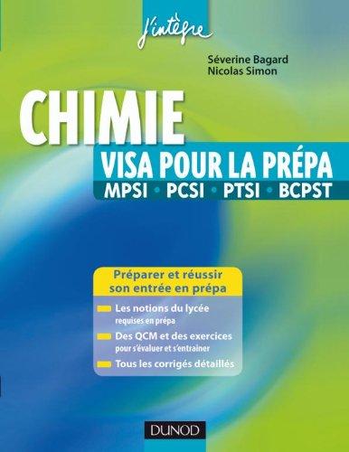 Chimie visa pour la prépa MPSI, PCSI, P...