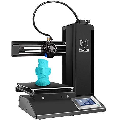 MALYAN 3D Drucker Druckgröße 150 x 150 x 150mm Bauplatte Zusammengebaut Flexiblen Magnetdruckbogen und Vorinstallierte Probe MicroSD-Karte PLA Filament Schwarz