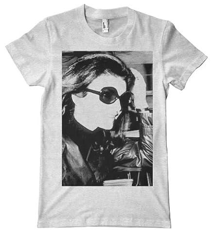 Paparazzi Series - Jackie Kennedy American Apparel T-Shirt, Ash Grey, Small