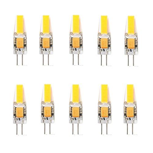 10x G4 Ampoule LED 3W 12V G4 Capsule G4 COB 1505 Downlight Ampoule G4 LED 200-250LM Avec La Nouvelle Technologie ( Color : Warm White , Size : AC12V )