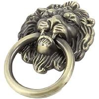 Sourcingmap a13073000ux0163 - Anello di disegno manopola di tiro tono bronzo maniglia orologio testa di leone porta dell'armadio