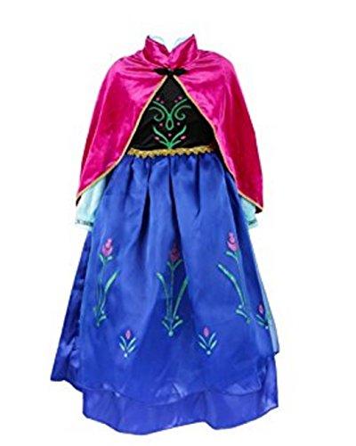 Kosplay Mädchen Prinzessin Kostüm Eiskönigin Kleid für Mädchen Schmetterling Karneval...