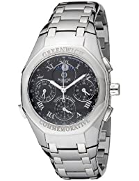 Accurist Grand Complication Men's Quartz Watch with Black Dial Chronograph Display and Silver Stainless Steel Bracelet GMT102