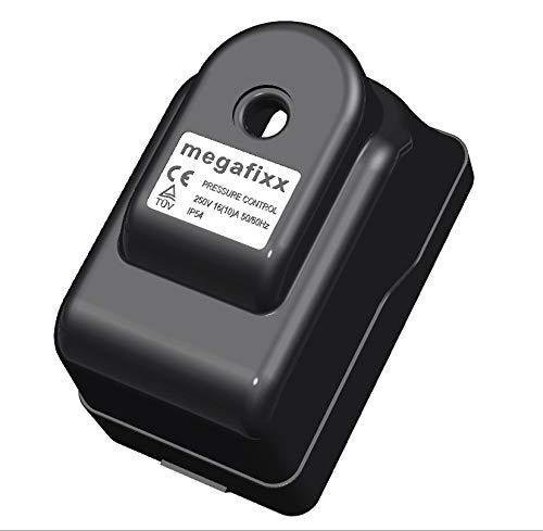 Druckschalter megafixx PC 9 für Hauswasserwerk - bis 8 BAR - verkabelt - 230 Volt - 1/4 IG Anschluss