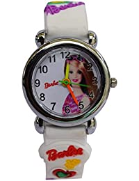 OpenDeal New Designer Barbie White Watches For Children Girls OD-W277