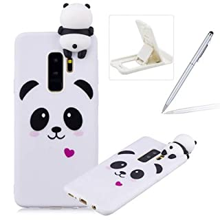 Herzzer Soft TPU Case for Samsung Galaxy S9 Plus,3D Flexible Rubber Case for Samsung Galaxy S9 Plus, Premium Stylish Cute Panda Printed Slim Fit Shockproof Scratch Resist Silicone Bumper Back Cover