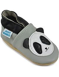 Zapatos de Bebé – Zapatillas de Cuero Niño Niña – Patucos de Piel con Elástico para Bebé - Zapatitos Primeros Pasos - Pantuflas Infantiles 0-6 Meses 6-12 Meses 12-18 Meses 18-24 Meses …