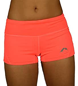 More Mile Womens More Tech Racer Pink Running Boy Shorts MM1948