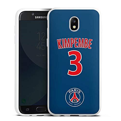 DeinDesign Samsung Galaxy J5 2017 Coque en Silicone Étui Silicone Coque Souple Paris Saint-Germain Produit sous Licence Officielle Kimpembe