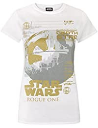 Star Wars Rogue One Metallic Death Star Women's T-Shirt