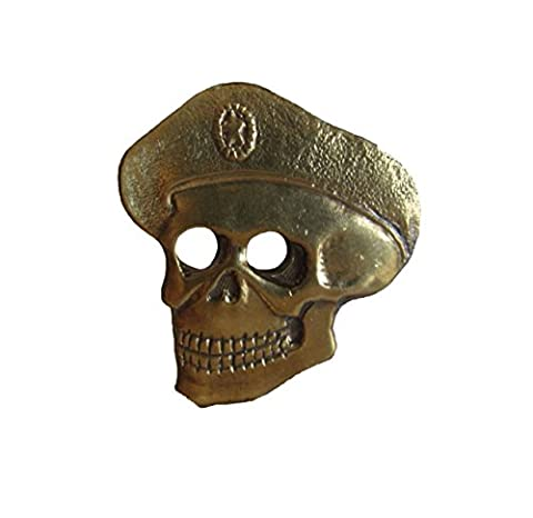 GENUINE Soviet Russian Red Army Spetsnaz SKULL CAP BADGE - Original USSR Special Forces Hat Pin