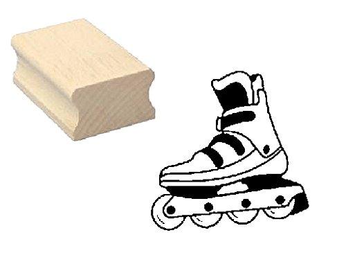 Stempel Holzstempel Motivstempel « INLINESKATE » Scrapbooking - Embossing Kinderstempel Inliner Inlineskaten Sport Rollerblades Skaten Rollschuh