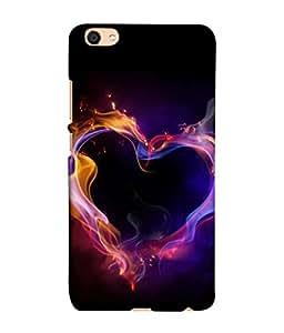 Fuson Designer Back Case Cover for VivoV5 (Hearts Spades Aces cards Red Love )