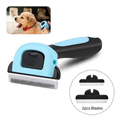 RCruning-EU Fellpflegebürste für optimale Entfernung von Unterwolle Deshedding Tool für Hunde Katzen,Hundebürste Katzenbürste-Blue -
