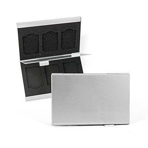 Preisvergleich Produktbild DS24 FLYSAFE Alubox für SD-Karten und SD-Karten Adapter