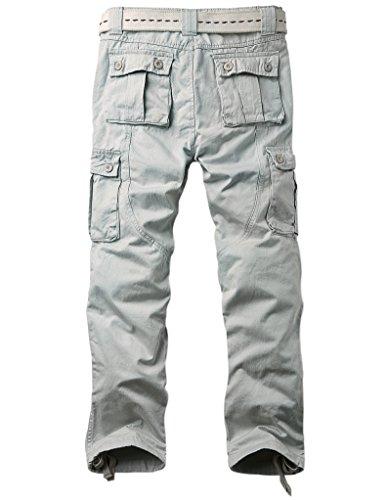 Match Pantalons Cargo pour Hommes #6531 6531 Pale gris(Light gray)
