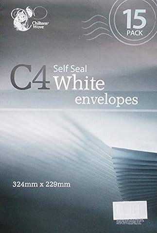 30C4Selbstversiegelnde Briefumschläge, Weiß/2Packungen von 15