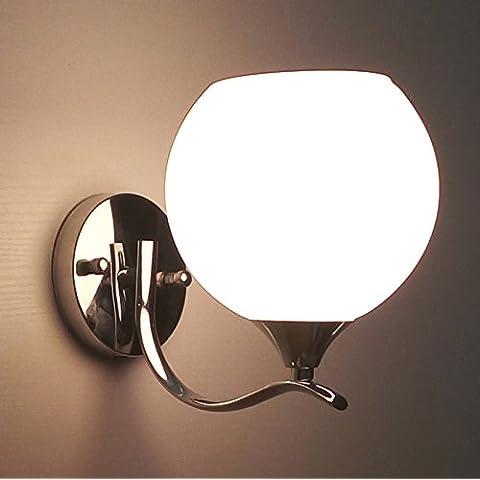 midtawer Leer simple y elegante dormitorio utilidad creativa caliente escalera muro luces, ORB crema)