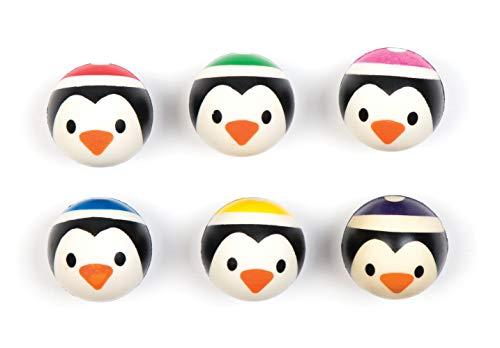 8120b326f Baker Ross- Pelotas de Goma con Cara de pingüino (Pack de 5).