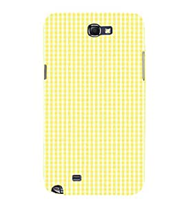 Yellow Checks Pattern 3D Hard Polycarbonate Designer Back Case Cover for Samsung Galaxy Note i9220 :: Samsung Galaxy Note 1 N7000