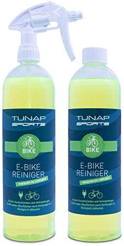 TUNAP Sports E-Bike Reiniger, 2in1-Pack, 1000 ml Spray | für Elektrofahrräder - beseitigt Schmutz und schützt Kontakte vor Korrosion